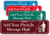Pitch In Symbol Sign