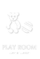 Play Room TactileTouch Braille Sign