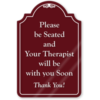Please Be Seated ShowCase Sign