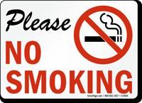 Please No Smoking (with symbol)