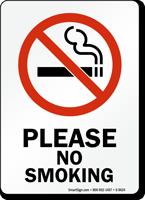 Please No Smoking (symbol) Sign