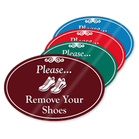 Please Remove Your Shoes ShowCase Sign