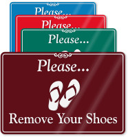 Please, Remove Your Shoes ShowCase Wall Sign