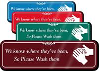 Please Wash Hands Humorous Restroom Sign