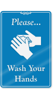 Please Wash Your Hands ShowCase Wall Sign