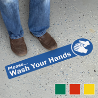 Please Wash Your Hands SlipSafe Floor Sign
