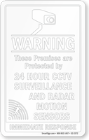 Premises Protected By CCTV Surveillance Window Decal