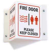Fire Door Please Keep Closed (graphic) Sign