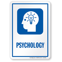 Psychology Hospital Sign with Symbol