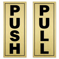 Pull Push Set Sign
