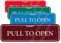 Pull To Open ShowCase Wall Sign