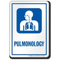 Pulmonology Pulmonary Hospital Sign with Respiratory Symbol
