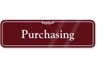 Purchasing Sign