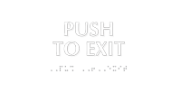 Push To Exit Tactile Touch Braille Sign