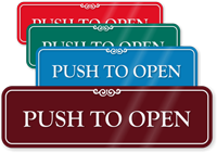 Push To Open ShowCase Wall Sign