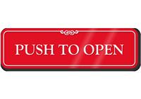 Push To Open ShowCase Wall Sign