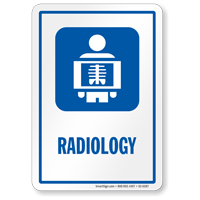 Radiology Hospital Radiation Sign with X-Ray Image Symbol