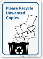 Please Recycle Unwanted Copies