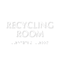 Recycling Room TactileTouch™ Sign with Braille