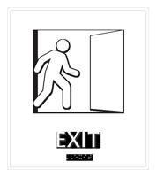 Exit with Door Symbol Sign