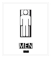 Men Regulatory Sign