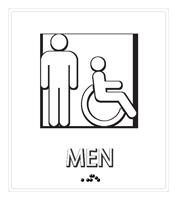 Men Regulatory Sign with Handicap Symbol