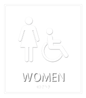 Women Regulatory Sign with Handicap Symbol