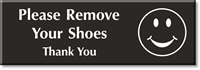 Remove Your Shoes Thank You Select-a-Color Engraved Sign