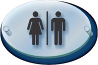 Unisex Restroom Symbol ClearBoss Sign