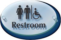 Men Women Handicap Symbol Restroom ClearBoss Sign