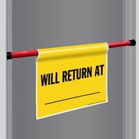 Return At Door Barricade Sign