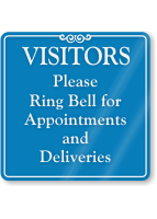 Ring Bell For Appointments Deliveries ShowCase Wall Sign