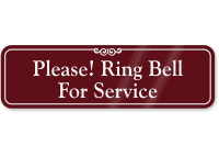 Please Ring Bell For Service ShowCase™ Wall Sign