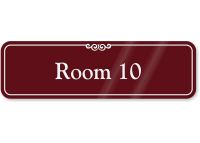 Room 10 ShowCase Wall Sign