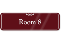 Room 8 ShowCase Wall Sign