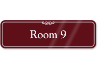 Room 9 ShowCase Wall Sign