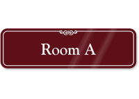 Room Letter A ShowCase Wall Sign