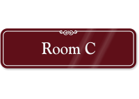 Room Letter C ShowCase Wall Sign