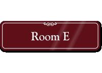 Room Letter E ShowCase Wall Sign