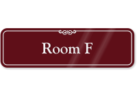 Room Letter F ShowCase Wall Sign