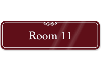 Room Number 11 ShowCase Wall Sign