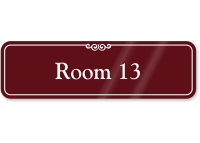 Room Number 13 ShowCase Wall Sign