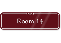 Room Number 14 ShowCase Wall Sign