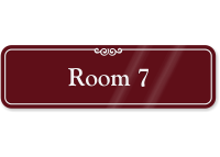 Room 7 ShowCase Wall Sign