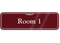 Room 1 Sign