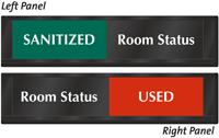 Room Status Sanitized Used Slider Sign