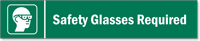Safety Glasses Required Stacking Magnetic Door Sign