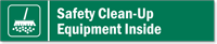 Safety Clean-Up Equipment Inside Stacking Magnetic Door Sign