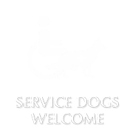 Service Dogs Welcome Engraved Sign