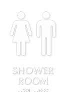 Woman Man Shower Room TactileTouch™ Braille Sign